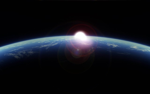 Earth-From-Space-over-the-horizon