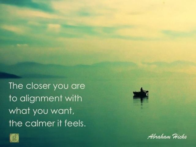 the closer you are to alignment