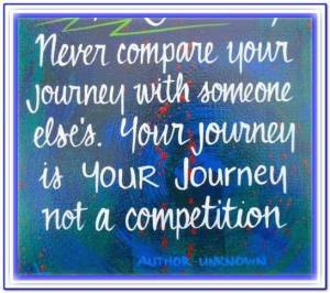 never compare your journey