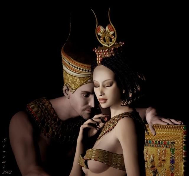 Pharaoh and his queen