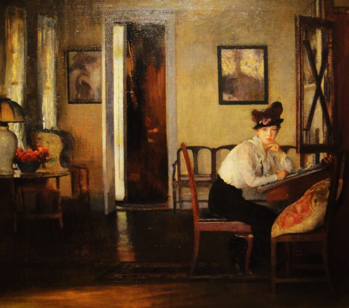 edmund-tarbell-girl-writing