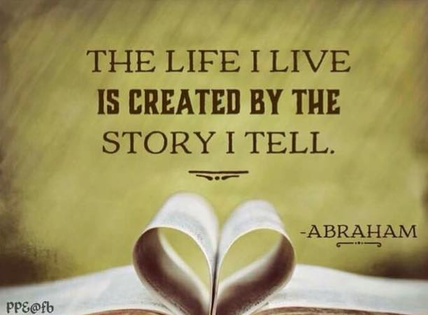 the life i live is created by the story i tell