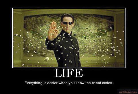 Life is easier when you know the cheat codes