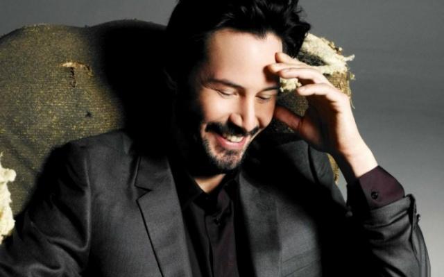 Keanu laughing