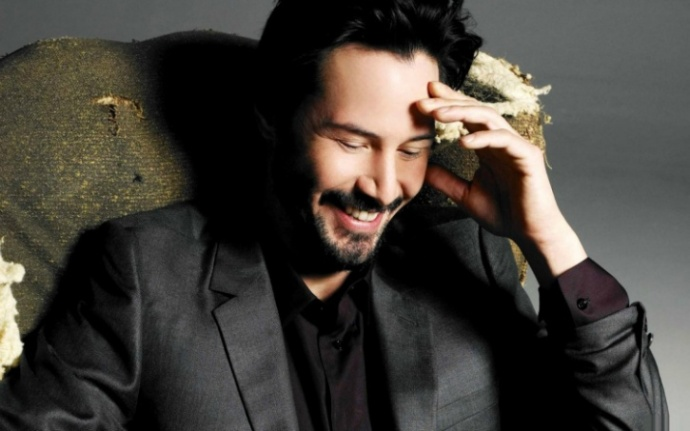 Keanu laughing